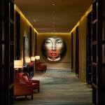 Азиатская гостиница с узорчатым ковролином