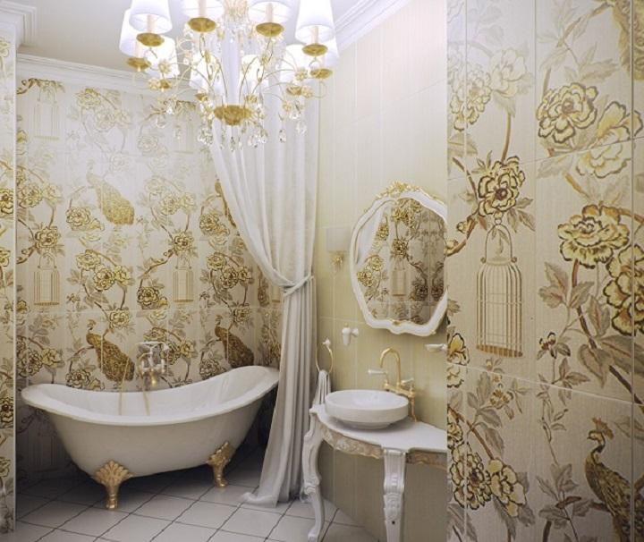 Ванная комната в деревянном доме: фото