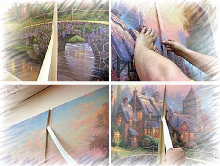 Поэтапная технология декорирования стен фотообоями