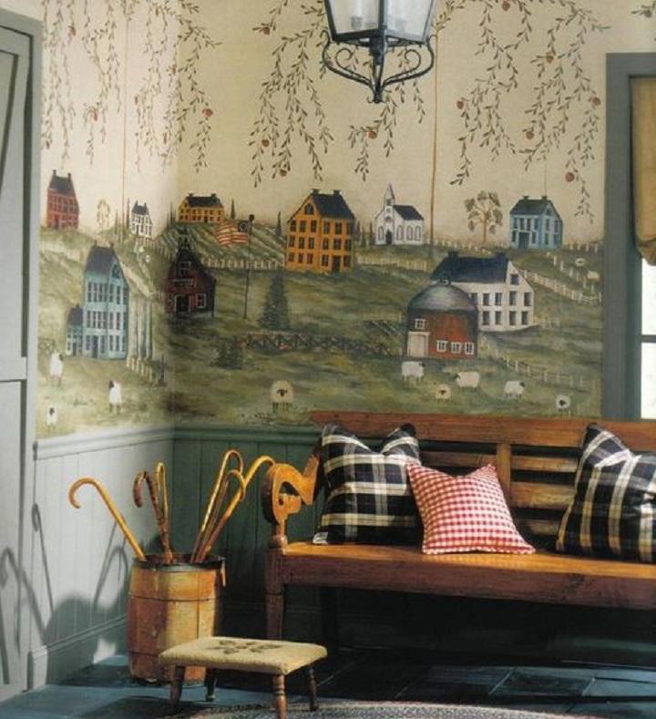 Угловое размещение обоев в детской комнате при отсутствии мебели вполне оправданно