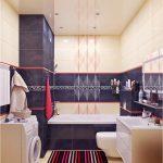 Фото 24: Дизайн в ванной при маскировке труб плиткой по гипсокартону