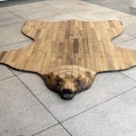 Дизайнерский ковер, стилизованный под шкуру медведя