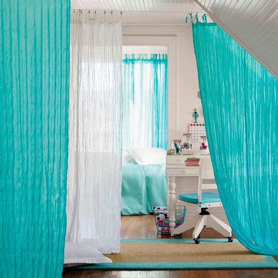 Яркие занавески в стиле прованс из жатой ткани
