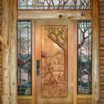 Фото 24: Резные деревянные двери