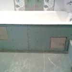 Фото 30: Экран для ванны из гипоскартона