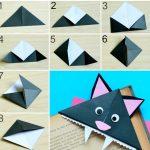 Фото 12: Закладка в виде кошки-оригами