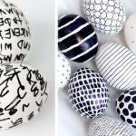 Фото 5: Роспись яиц черным маркером