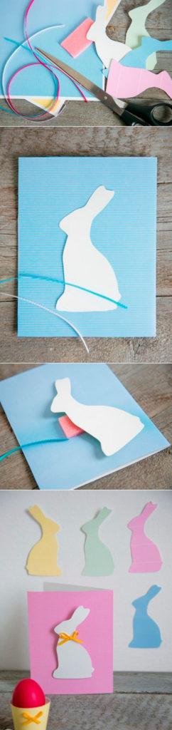 Изготовление открытки с кроликом