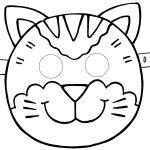 Фото 7: Шаблон кошачьей маски 2