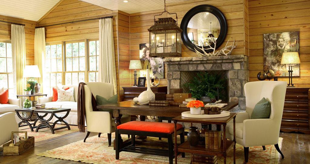 Интерьер кухни гостиной фото стиль кантри