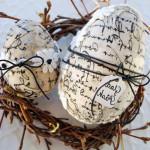 Фото 6: Декор яиц декупажем салфеткой с надписями