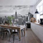 Фото 90: Фотообоив в виде города на кухне