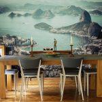 Фото 91: Фотообои в интерьере кухни