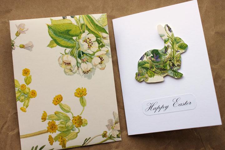 Цветочный кролик на открытке