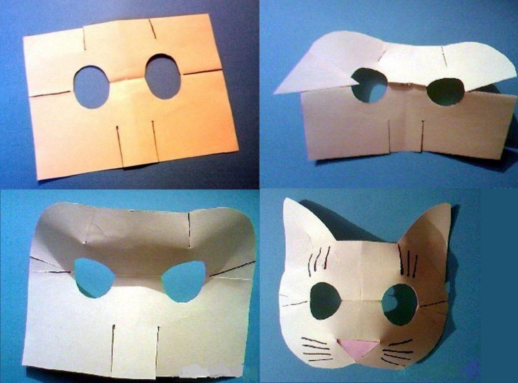 Изготовление объемной маски-кошки