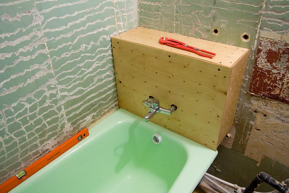 Как сделать короб в ванной съемным коробом
