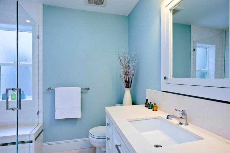 Покраска стен в ванной водоэмульсионной краской