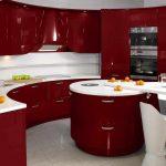 Фото 72: Красная кухня в стиле хай-тек