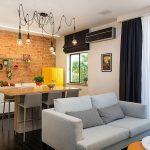 Фото 65: Современная кухня в квартире студии