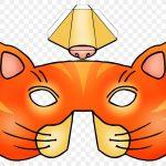 Фото 8: Шаблон кошачьей маски с выпуклым носиком