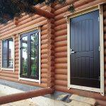 Фото 29: Металлическая дверь в деревянном доме