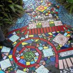 Фото 45: Дорожка в видео мозаики из плитки