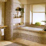 Фото 38: Плитка в ванной в виде мозаики