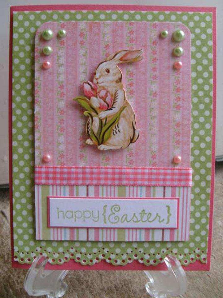 Пасхальная открытка с кроликом