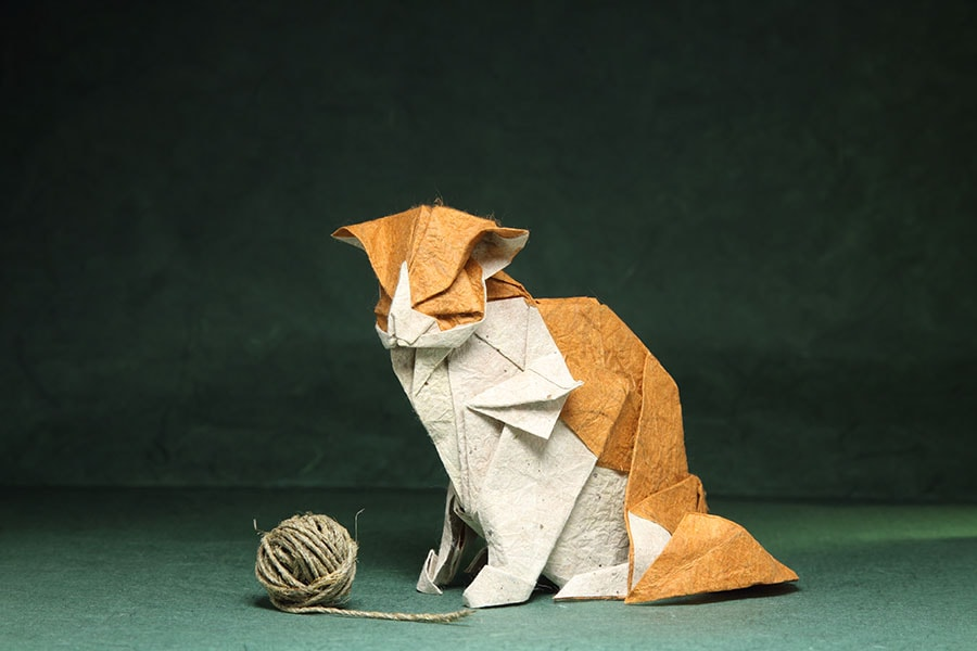 Кошка-оригами