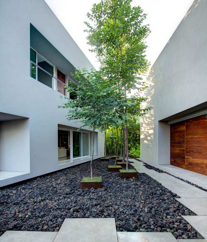 Оформление участка под дизайн дома