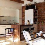 Фото 69: Маленькая кухня лофт современная