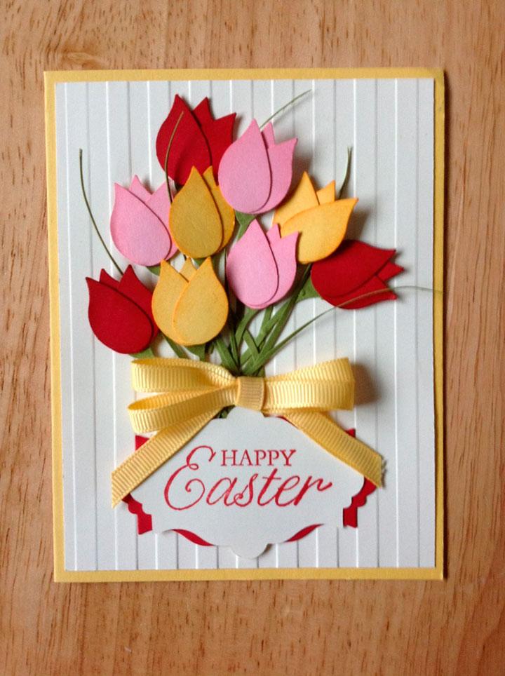 Открытка с цветочной тематикой