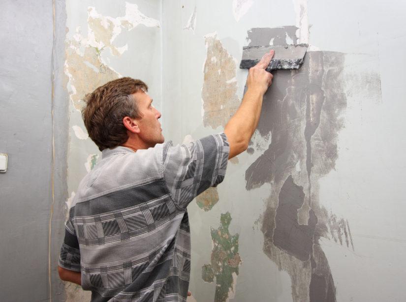 Зачистка стен перед грунтовкой