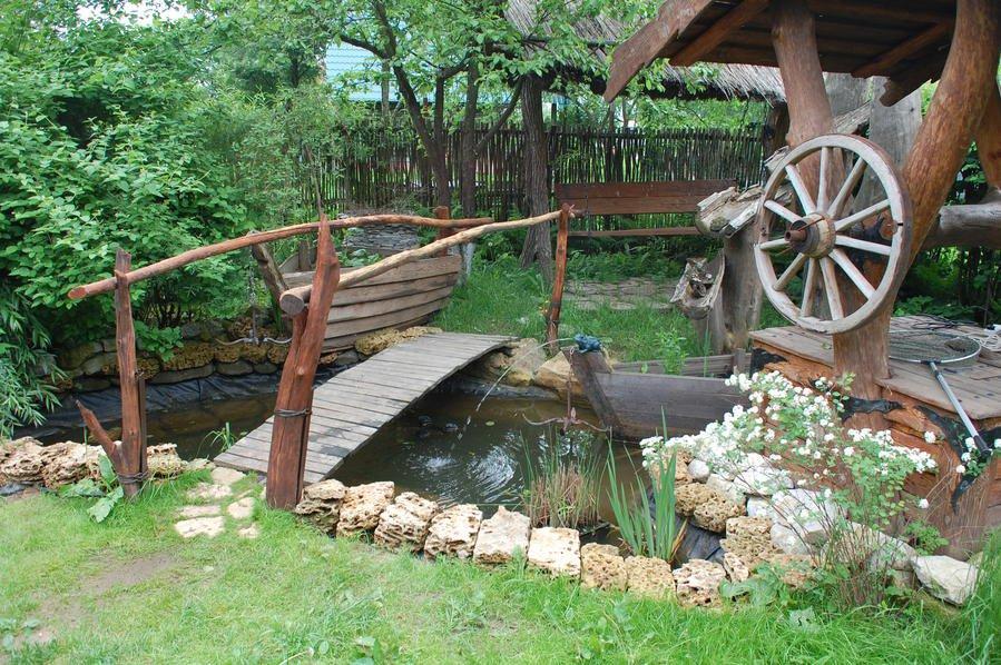 Дизайн сельского двора на