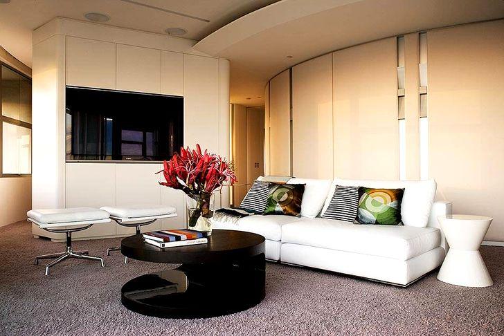 Дизайн зала в квартире фото 36