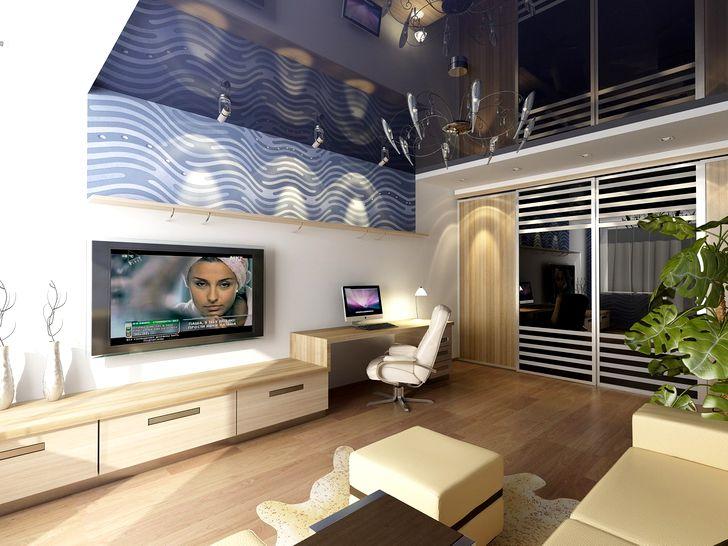Дизайн зала в квартире фото 37