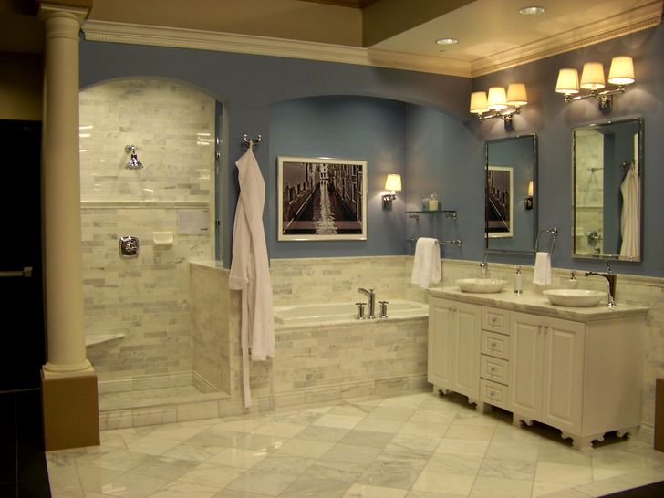 Плитка для ванной серого цвета