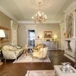 гостинная в классическом стиле фото 11