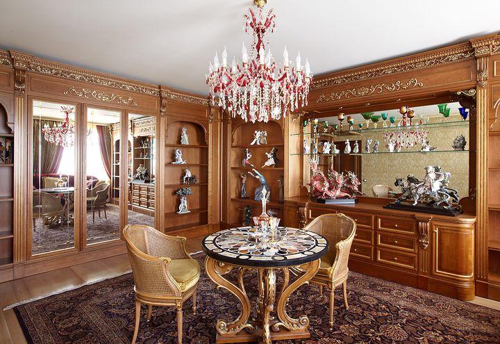 гостинная в классическом стиле фото 23
