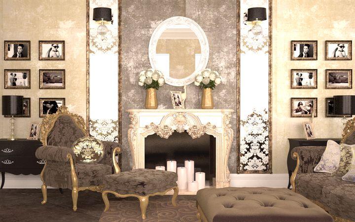 гостинная в классическом стиле фото 26