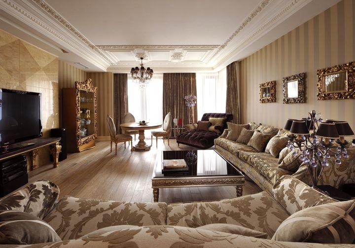 гостинная в классическом стиле фото 27