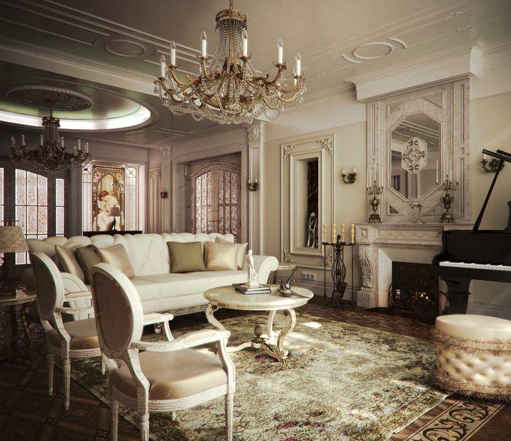 гостинная в классическом стиле фото 28