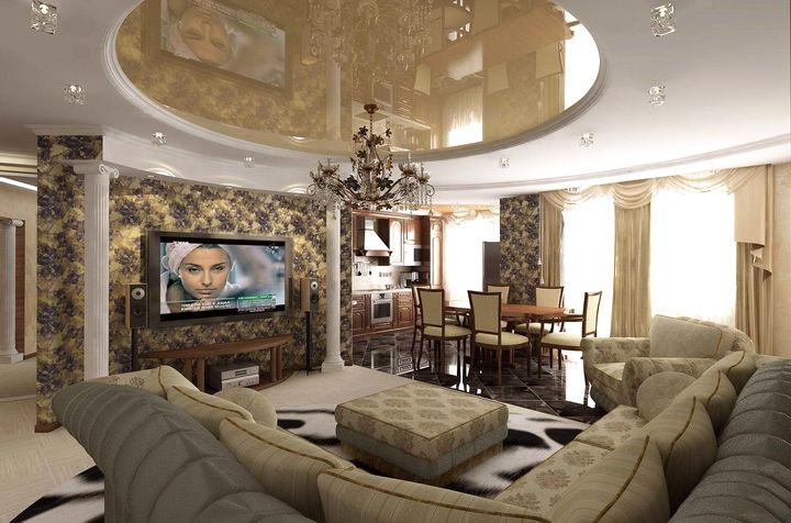 гостинная в классическом стиле фото