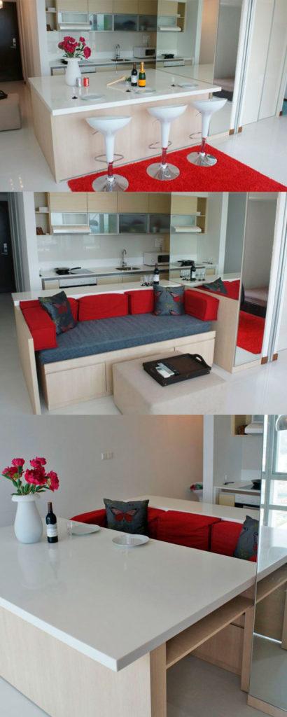 Незаменимый стол-трансформер для кухни-гостиной