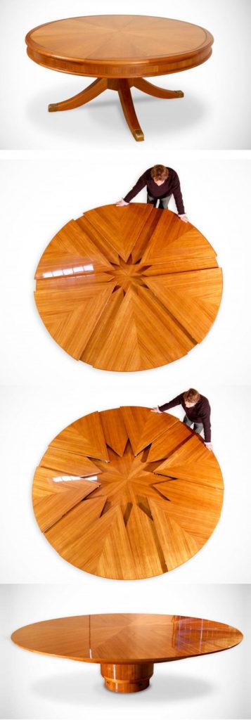Один из вариантов механизма для круглого стола