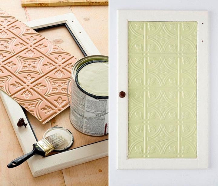 Используйте панели для украшения мебели