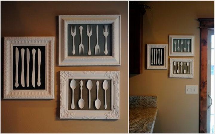 Декор из ложек и вилок