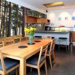 Фото 74: Природные фотообои на кухне