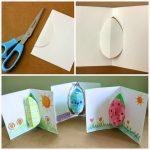 Фото 37: Объемная открытка с яйцом при развороте