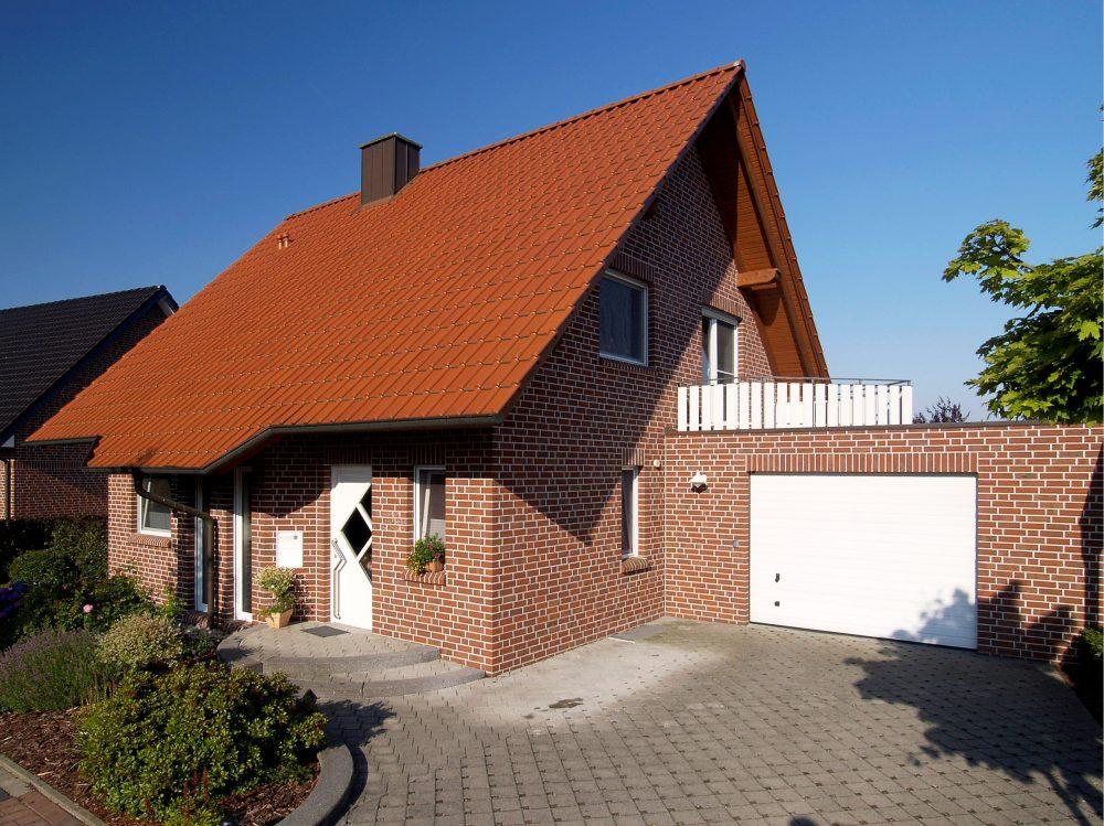 Отделка фасада дома клинкерной плиткой